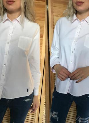 Белая классическая рубашка u.s. polo assn