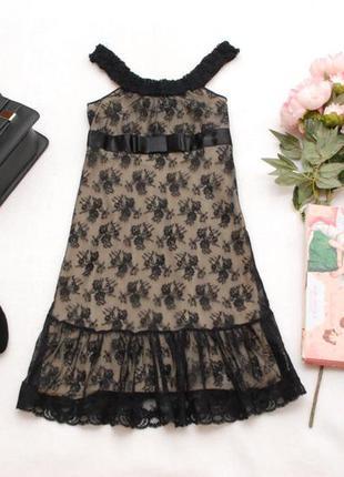 Распродажа окончательная! красивое черное гипюровое платье для дюймовочки killah