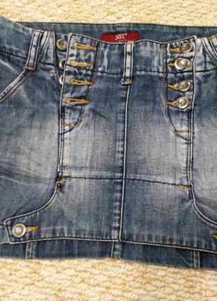 Юбка джинс с пуговками 100% cotton