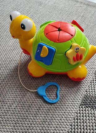 Інтерактивна розвиваюча  музична іграшка черепаха