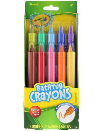 Карандаши crayola для рисования в ванной 10 цветов