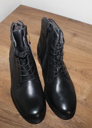 Кожаные ботинки с мембраной gore-tex marc 40 размер