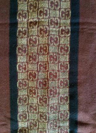 Теплый шерстяной шарф gucci 100% оригинал!