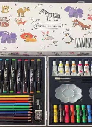 Набор для творчества 50 предметов, в чемодане