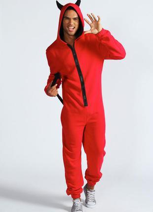 Черт дьявол кигуруми пижама лыжный костюм анимация хл рост до 190 см