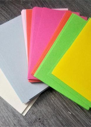 Цветной картон для изготовления открыток, бирок для подарков и др. поделок