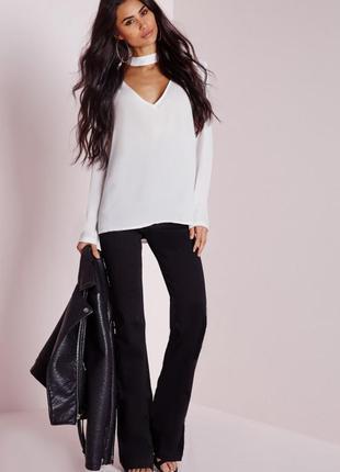 Блуза с чокером missguided uk10/38euro/s-m