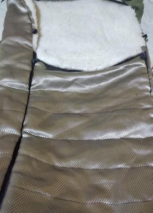 Чехол мешок в коляску санки