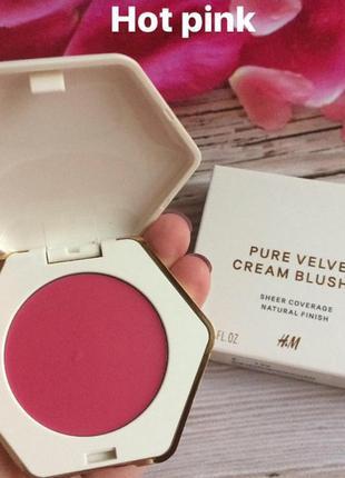 Румяна pure velvet cream blusher h&m