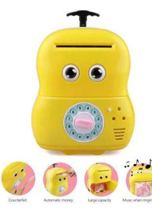 Интерактивная игрушка копилка для ребенка чемодан