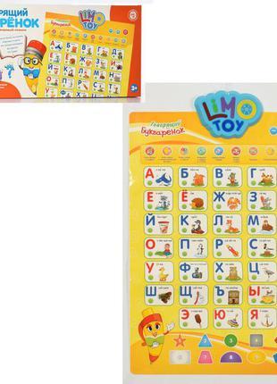 Плакат обучающий детский на русском языке, интерактивный детский плакат 7002 ru-cp
