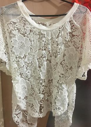 Шикарная ажурная блуза h&m
