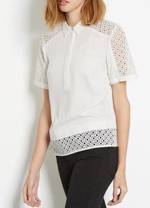 Вискозная блуза с перфорацией warehouse,р-р 6