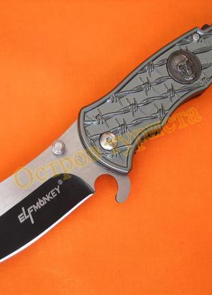 Нож складной elf мonkey b105 череп