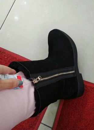 Зимние ботиночки из замши