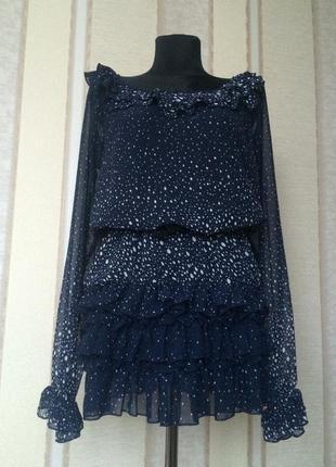 Платье-туника шифон.