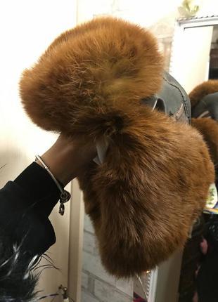 Эффектна меховая шапка ушанка3