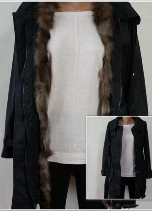 Парка тренч плащ куртка 2 в 1 мех натуральный (у меня большой выбор курток)
