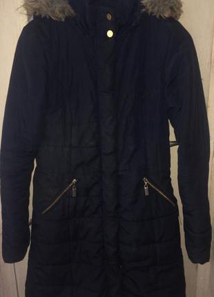 Срочно продам пуховик-пальто тёмно-синего цвета низкая цена atmosphere  зимний 6942630b7a9