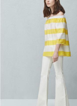 Mango блуза с открытыми плечами, s