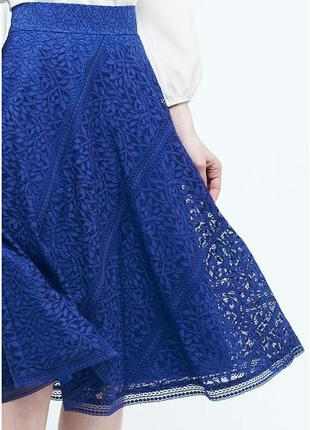 Неверятная кружевная юбка миди от h&m