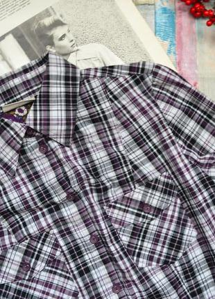 Хлопковая разноцветная рубашка в клетку canda c&a