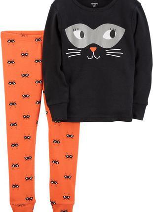 Пижама carter's girl cat face, одежда из сша