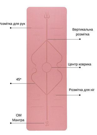 Фитнес коврик для йоги пилатеса каримат