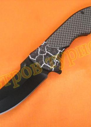 Нож складной  390b рукоять металл