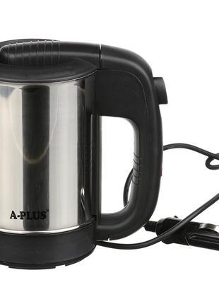 Электрочайник автомобильный a-plus 0.5 л (1700) с чашками