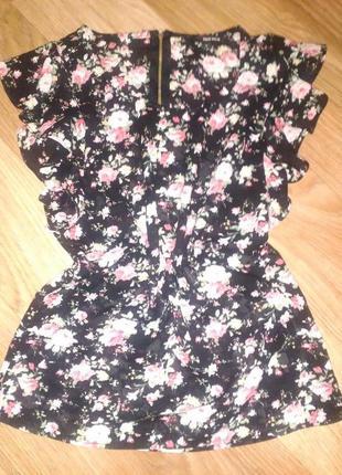Блуза блузка шифоновая с замочком на спине