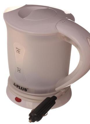Автомобильный чайник a-plus 0.5 л (1518) белый от прикуривателя с чашками