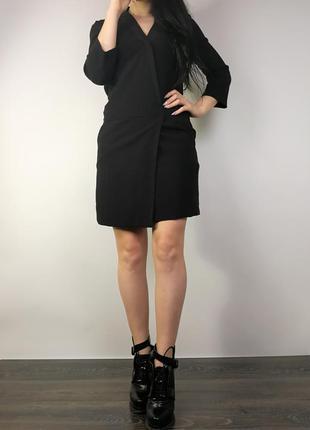 Необычное черное платье 161044 la redoute laura clement размер uk8/36 (s)