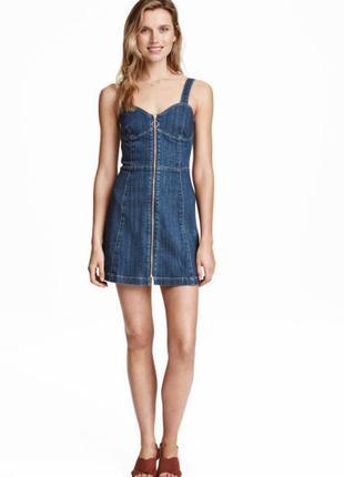 Красивое  джинсовое платье от h&m