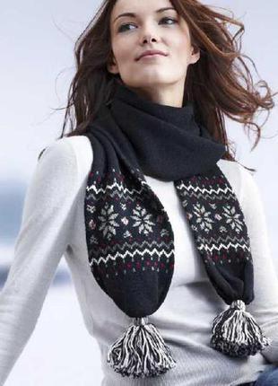 Зимний женский шарф tchibo
