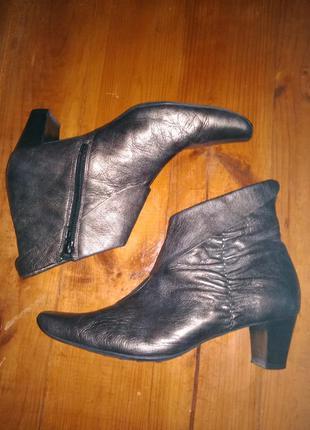 Hogl крутые брендовые ботинки бронза металл/// много классных вещей///