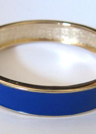 Браслет из бижутерного сплава с эмалью цвета ультрамарин