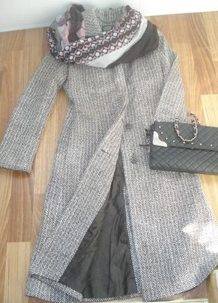 Пальто классическое с поясом oggi р-р 42-44 (s)