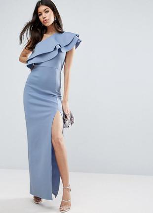 Новорічний розпродаж!!! розкішна сукня з воланом від asos