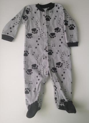 Человечек пижама флисовый сarters размер 9 мес.