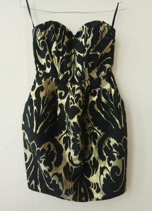 Золотое платье h&m