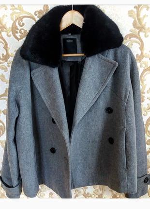 Брендовое новое пальто бойфренд укороченое jessica c&a