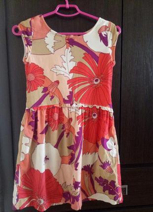 Вельветовое платье в цветочек gap kids