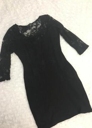 Чёрное платье bershka