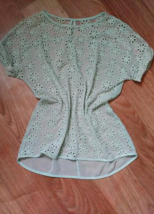 Блузка , блуза мятная
