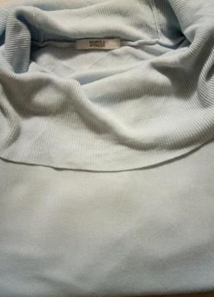 Водолазка свитер  кофта небесного  цвета m&s
