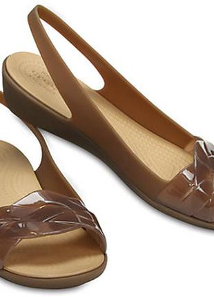 Шикарные crocs women´s isabella slingback flat крокс кроксы 10w