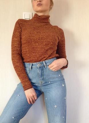 🌿гольф/ джемпер/ свитер  в рубчик от topshop