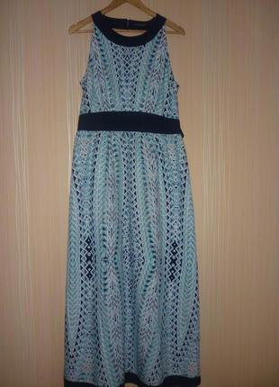 Шикарное длинное платье в пол 50 размера