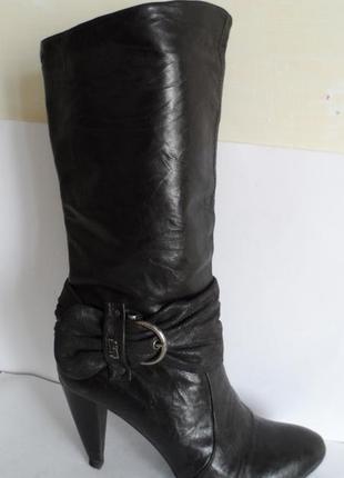 Классные кожаные сапоги!!!  размер 41 румыния